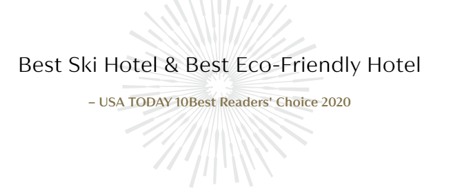 Viceroy Snowmass named Best Ski Hotel & Best Eco-Friendly Hotel by USA TODAY 10Best Readers' Choice