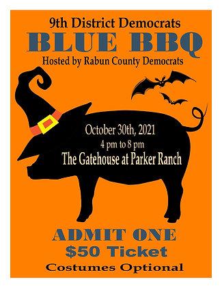 9th District Democrats Blue BBQ Ticket