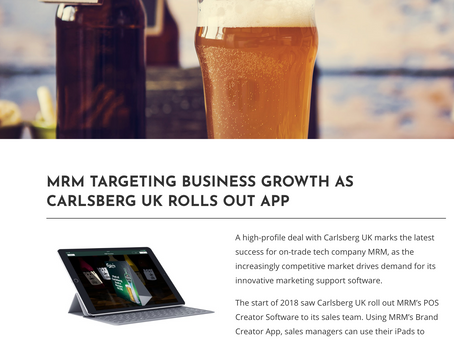 MRM TARGETING BUSINESS GROWTH AS CARLSBERG UK ROLLS OUT APP