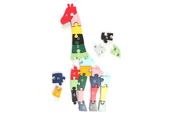 Unvollständige Giraffe Puzzle 2