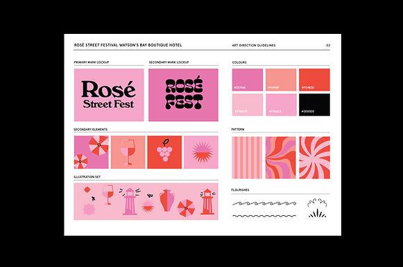 rose street fest identity design brand g