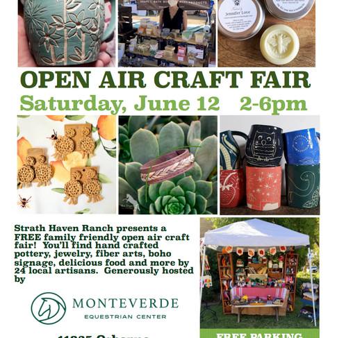 June 12, 2021 Craft Market Flyer