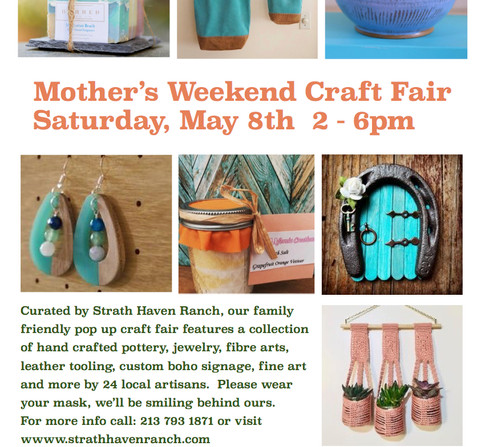 Event Flyer for May 2021 Craft Market at Monte Verde Ranch