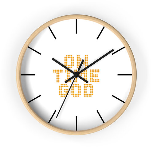 "South African Collection""On Time GOD"" Wall clock"