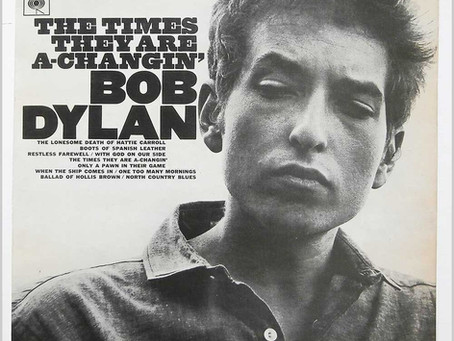 """New Guitar Lesson / Transcription: """"The Times They Are A-Changin'"""" Bob Dylan"""