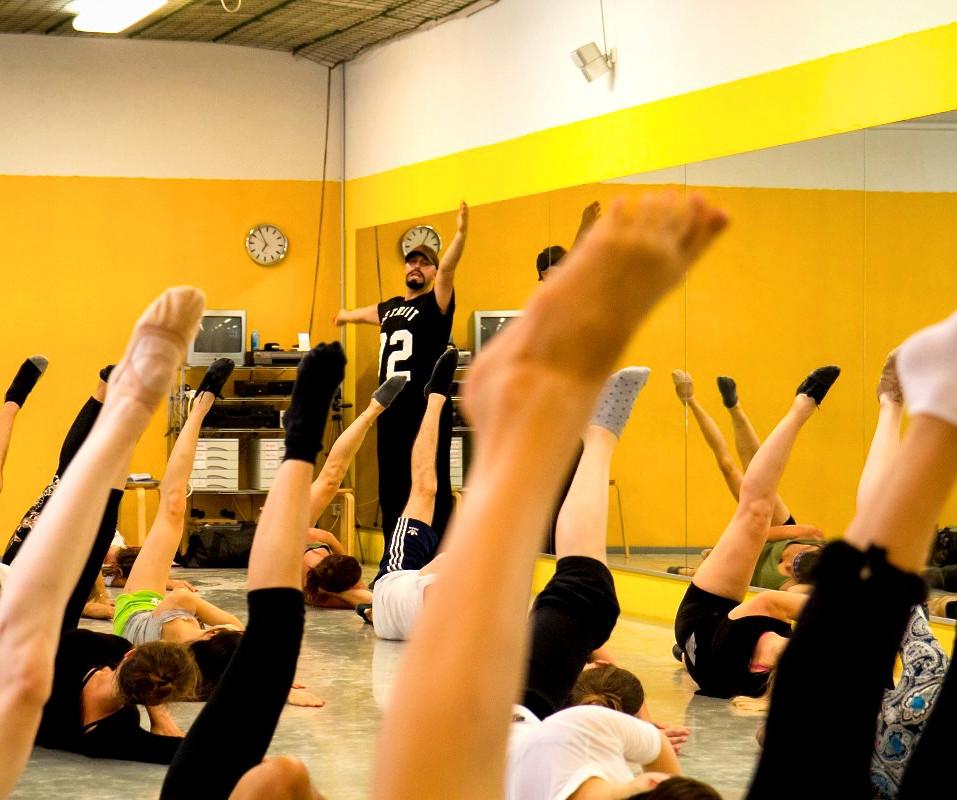 Cueneyt is Teaching Jazz Dance Class
