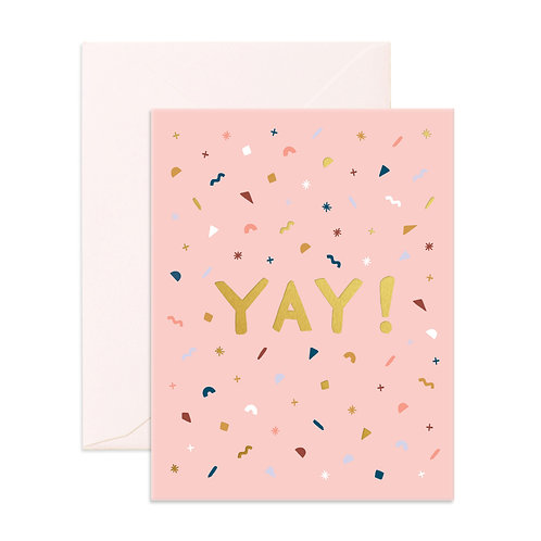 YAY Greeting Card by Fox & Fallow