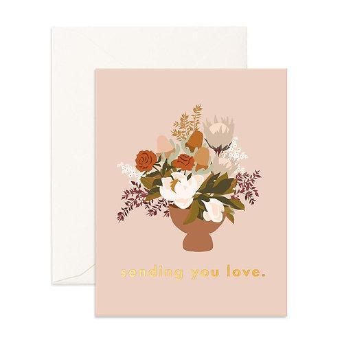 Sending Love Still Life Greeting Card