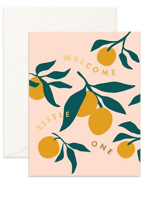 Little One Lemons Greet Card by Fox & Fallow