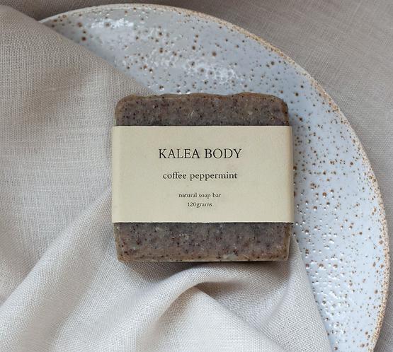 Kalea Body Coffee Peppermint Natural Handmade Soap