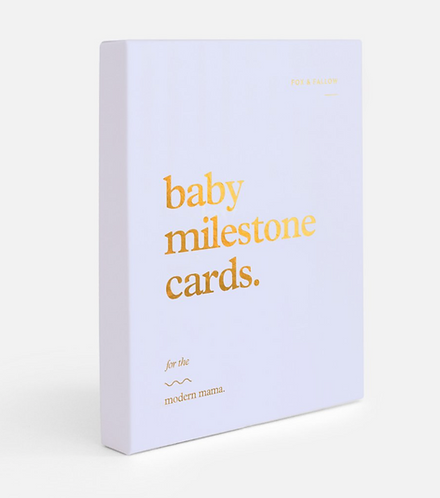 Baby Milestone Cards by Fox and Fallow - Powder Blue
