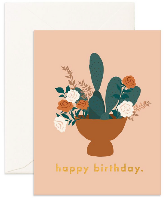 Birthday Nopale Greeting Card by Fox and Fallow