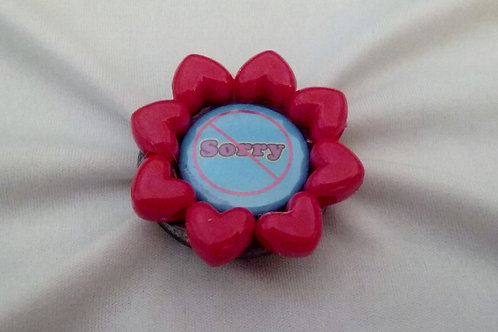 Not Sorry Ring with Red Beads