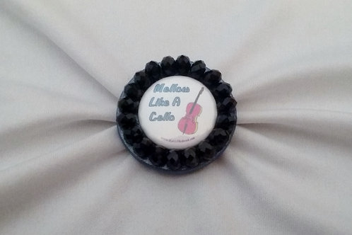 Mellow Like a Cello Ring with Black Faceted Beads