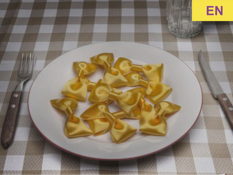 Why does pasta taste like a bow?