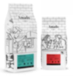 Прототип нового дизайна пачек кофе AMADO