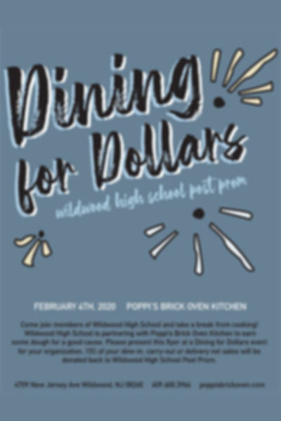 Dining for Dollars - Wildwood High School Post Prom