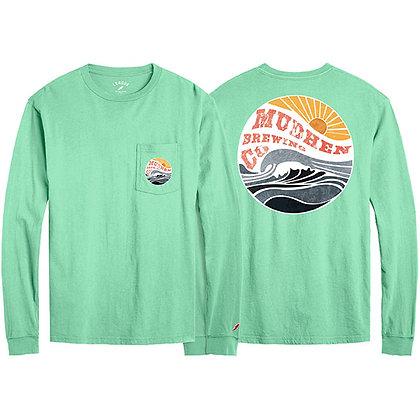 Wave long sleeve tee - mint