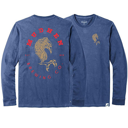 MudHen long sleeve tee (Women) - Blue Moon