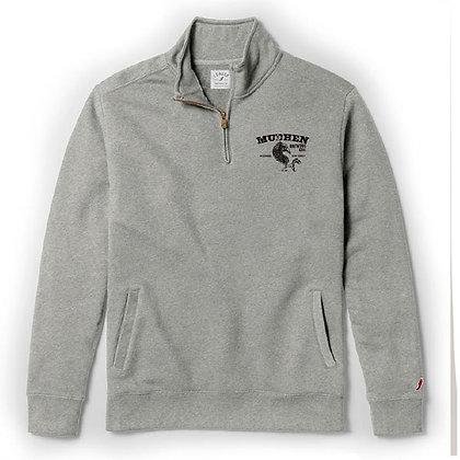 MudHen quarter zip fleece - grey