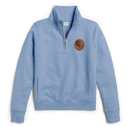 MudHen quarter zip fleece - blue