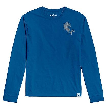 MudHen long sleeve tee - royal blue