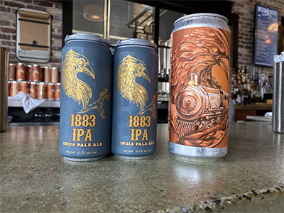 MudHen 1883IPA cans and crowler