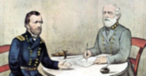 Lee Surrenders Civil War is over.