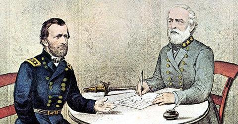 Lee Surrenders Civil War is over.