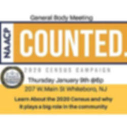 CMC NAACP General Body Meeting w/2020 Cenus