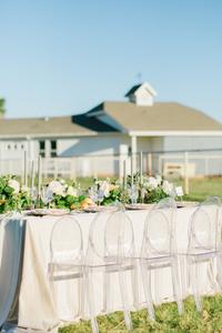 lush greens and flowers for a classic romantic modern farm wedding Arizona