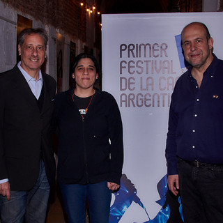 Araceli Matus de la Fundación Mercedes Sosa, Alberto Pieragostini y Willy Poch