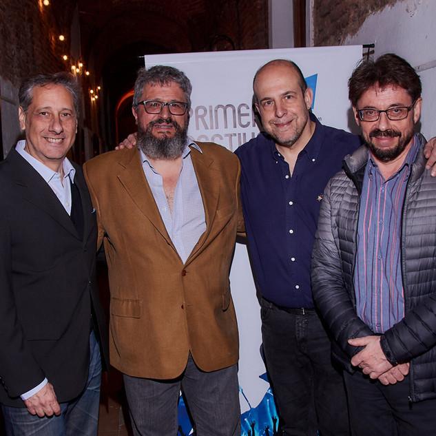 Ricardo Vernazza, Henoch Aguiar, Alberto Pieragostini y Willy Poch