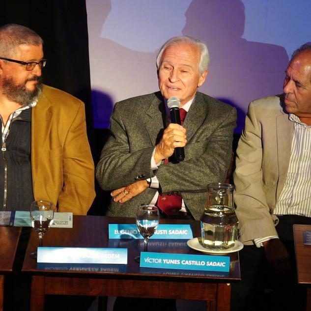 Eugenio Inchausti y Víctor Yunes Castillo SADAIC / Conferencia de Prensa