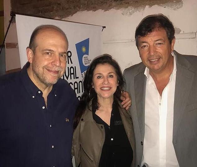Roxana Fontán, Francisco Pavón y Willy Poch