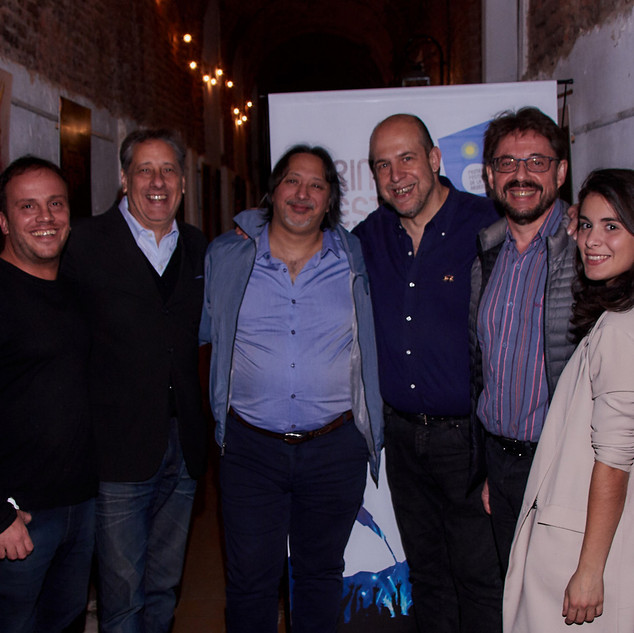 Javier Florentín, Alberto Pieragostini, Dany Vilá, Willy Poch, Henoch Aguiar y Julieta Gómez