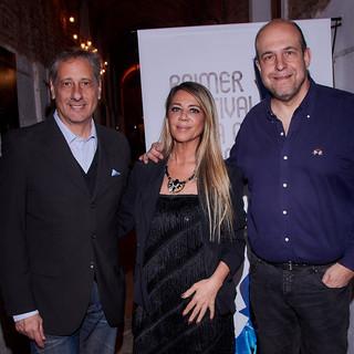 Nora Briozzo, conductora oficial de la gala 2019, Alberto Pieragostini y Willy Poch