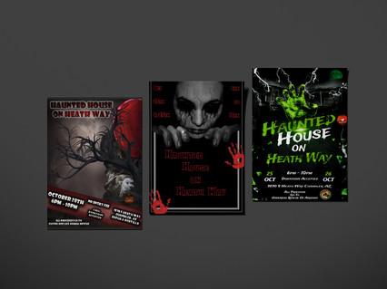 Haunted House Flyer Mockups
