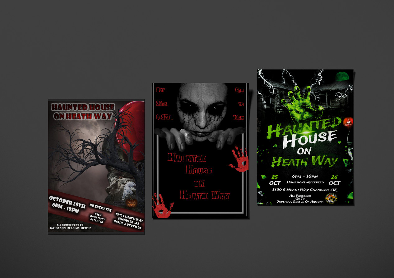 Haunted House Flyer Mockups