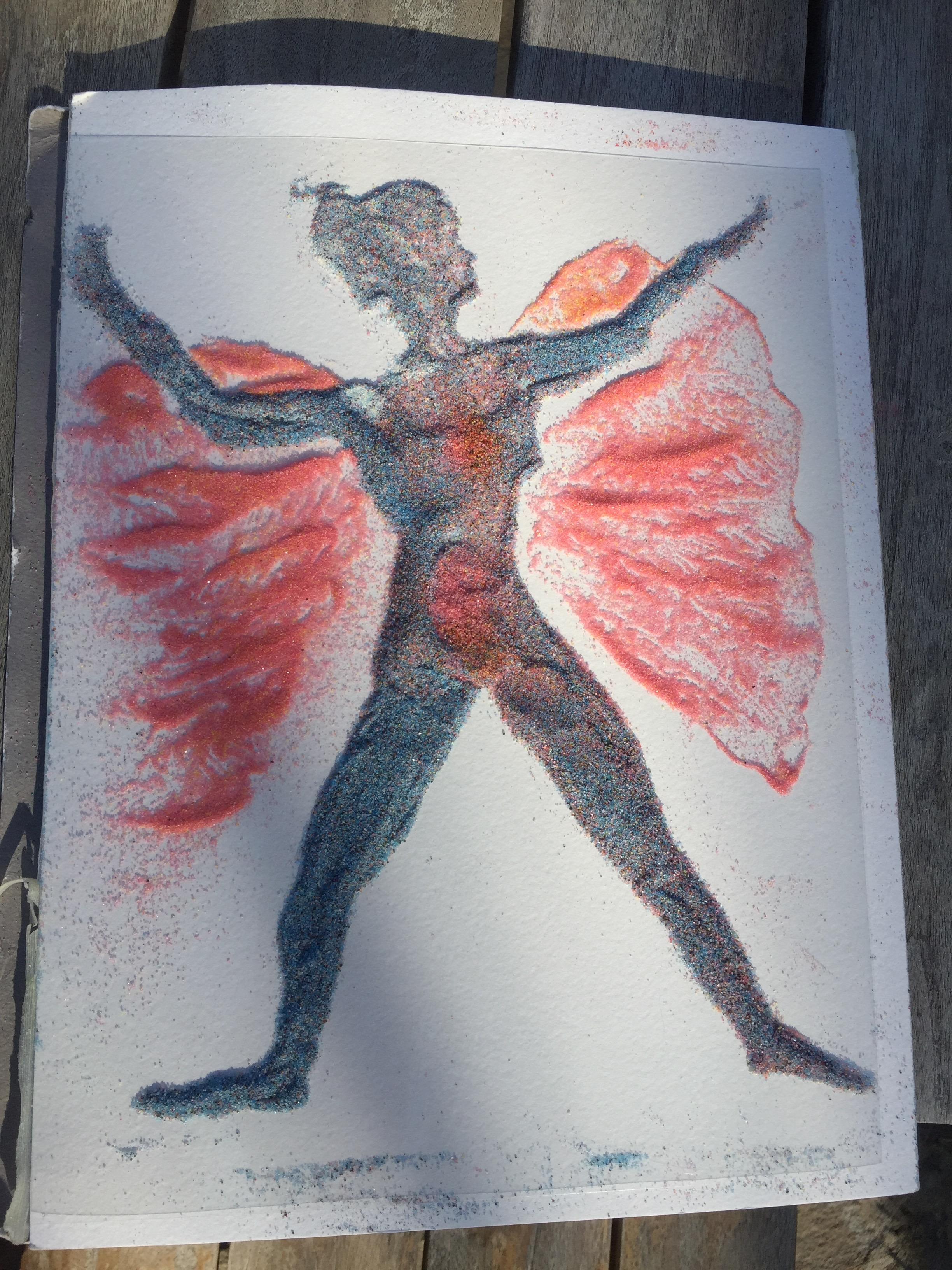 sand painting yoga goddess sandpainting