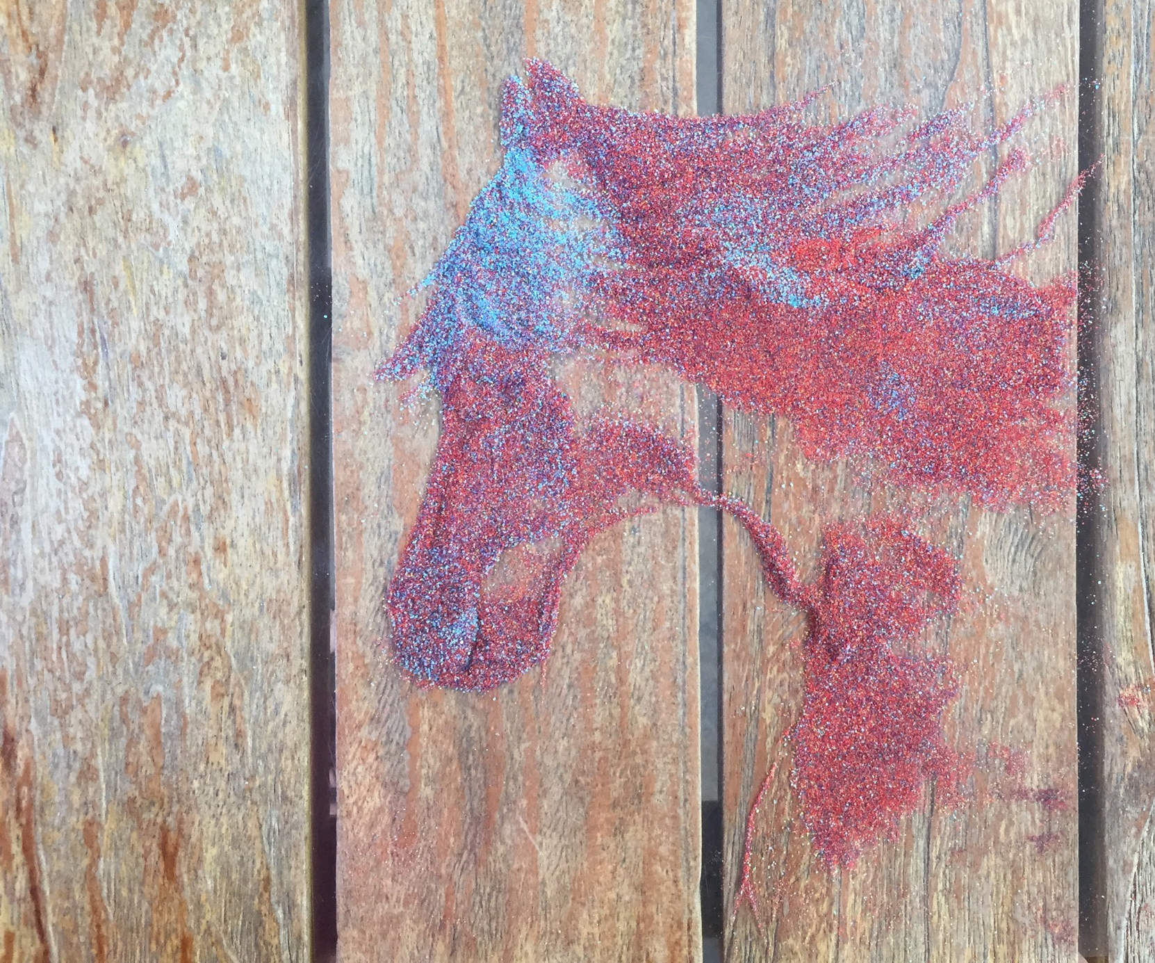 sand painting elis horse