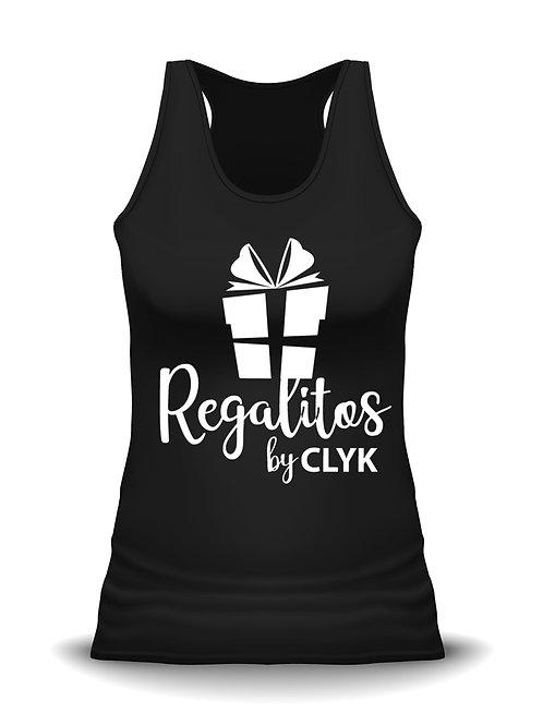 Camiseta negra de tirantes PERSONALIZADA con vinil textil, para mujer