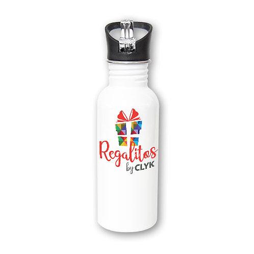 Botella con pajilla 600 ml PERSONALIZADA