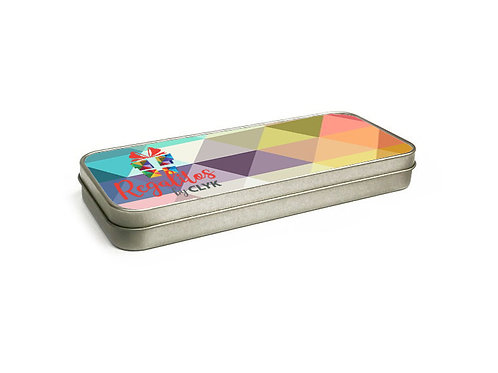 Cartuchera metálica PERSONALIZADA de 18 x 7 cm