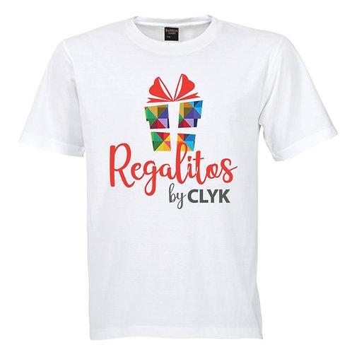 Camiseta blanca cuello redondo sublimada de Poliéster, para hombre