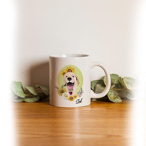 Ilustración de mascotas y jarra PERSONALIZADA