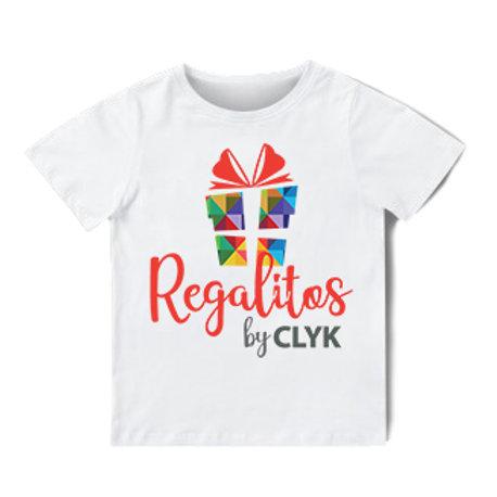 Camiseta blanca cuello redondo sublimada de Poliéster, para niños