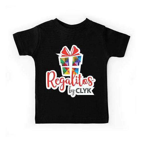 Camiseta color cuello redondo con vinil sublimable de algodón, para niños