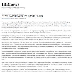 IBR News - New Paintings By Dave Ellis