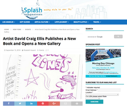 Splash Magazine - Artist David Craig Ellis Publishes A New Book And Opens A New Gallery
